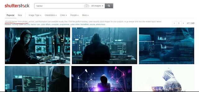 موقع shutterstock للحصول على صور هكر مميزة