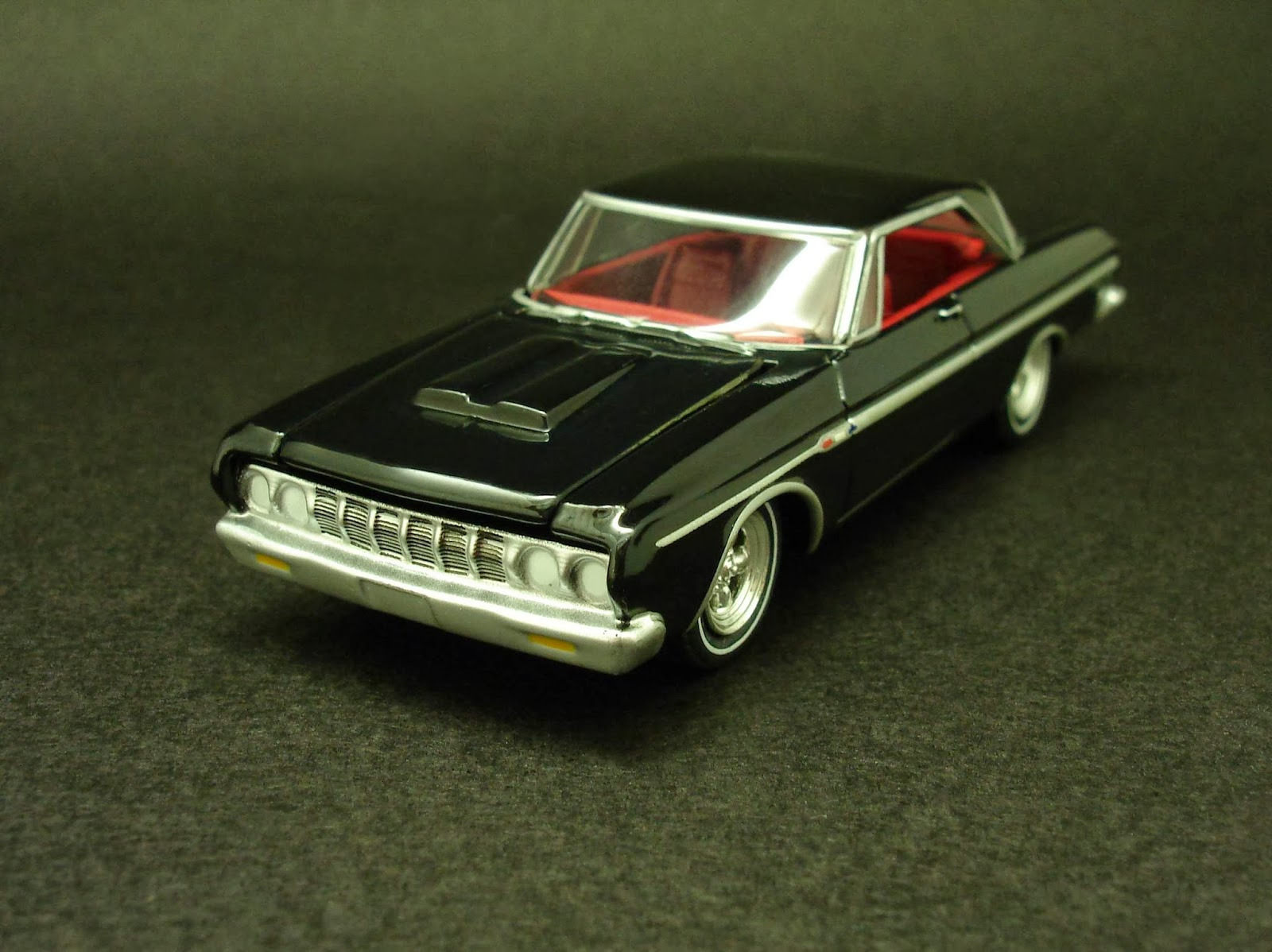 Diecast Hobbist 1964 Plymouth Fury Max Wedge Dodge 164 Scale From Greenlight Muscle Car Garage Stock Custom Series 4 Color A