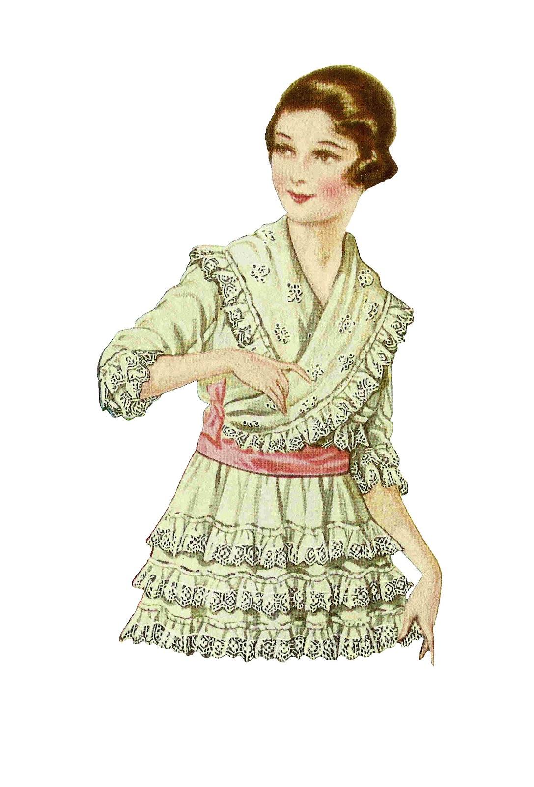 Vintage Fashion Clip Art 51