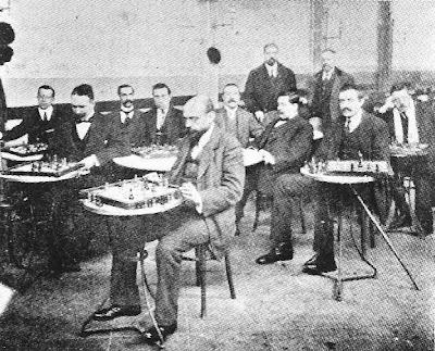 Torneo de resolución de problemas de ajedrez en 1915 en el Café de la Sala Imperio de Barcelona