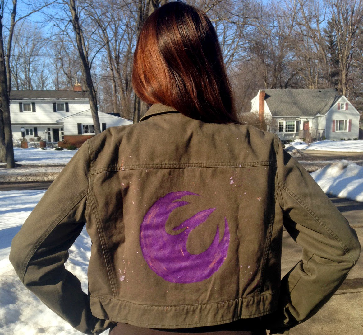 geek with curves: DIY Star Wars Rebel jacket