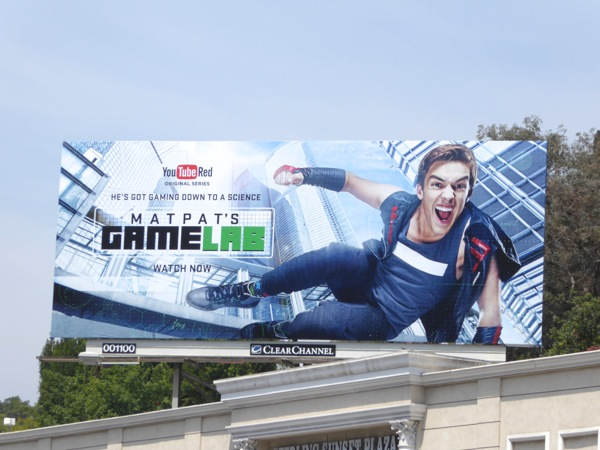 MatPat's Game Lab YouTube Red series premiere billboard