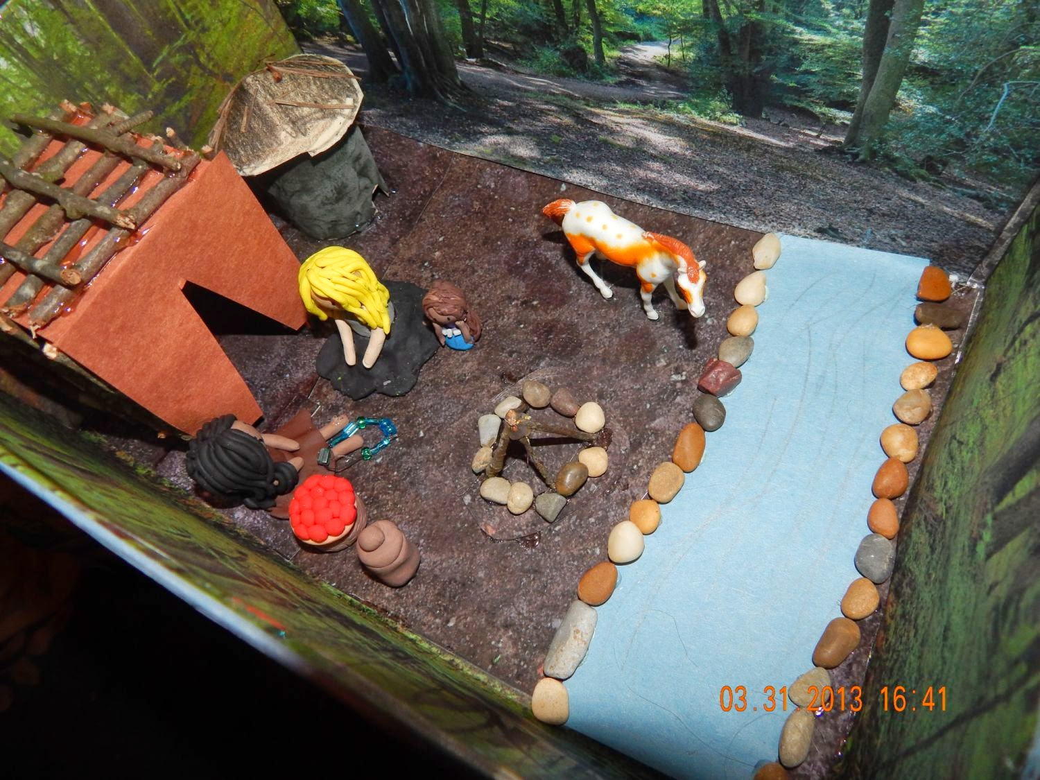 Shoebox Diorama Cherokee Of The Southwest Region This Is How My