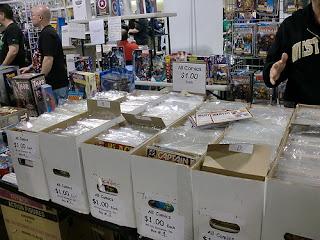 Photo of comic book dollar bins