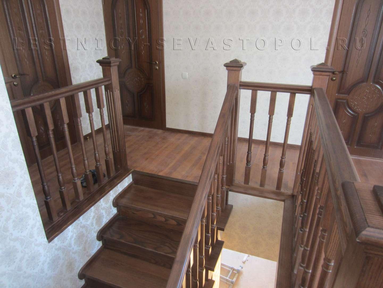 Деревянные лестницы в частном доме фото цены