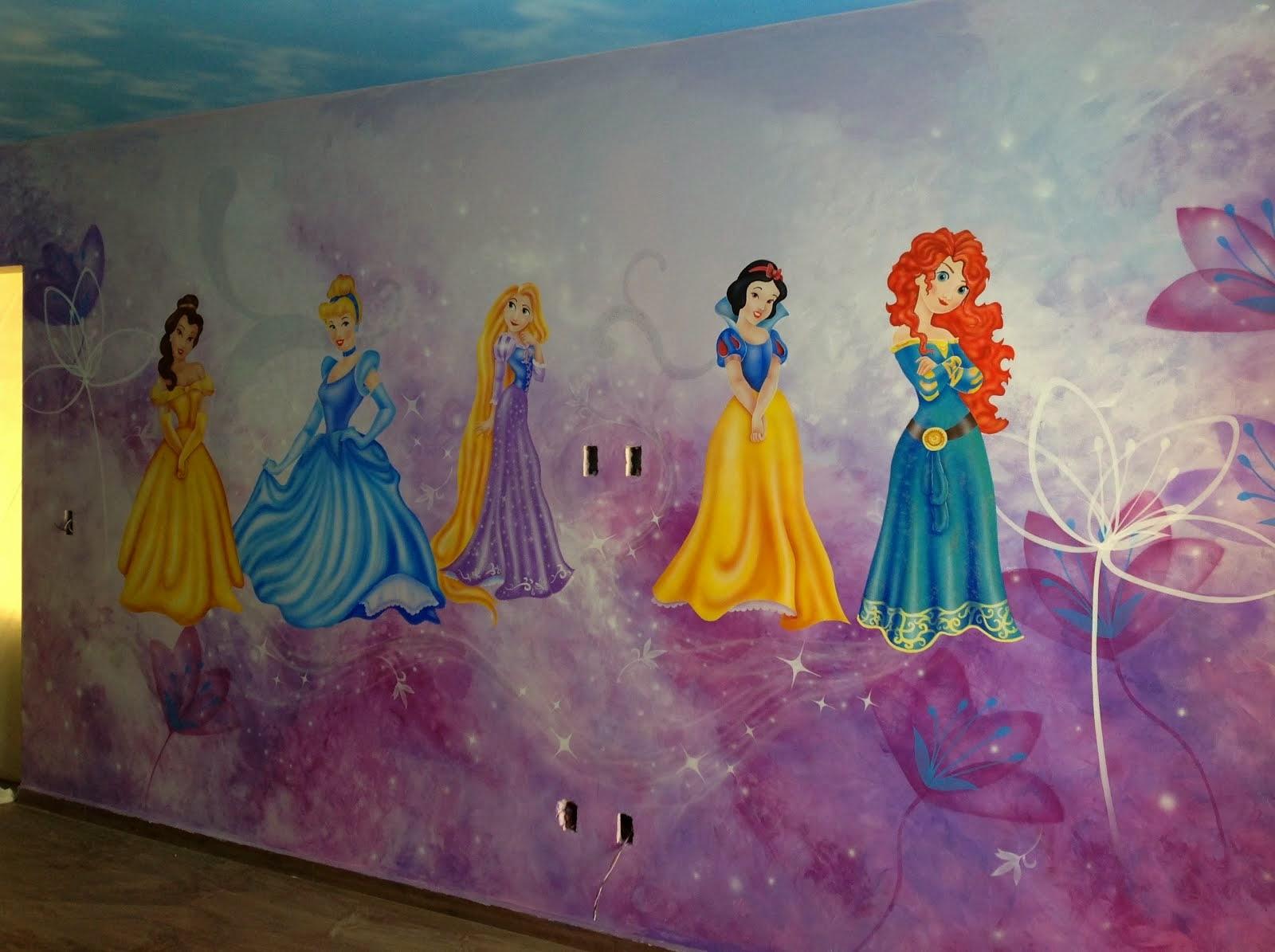Murales infantiles y arte decorativo pintado a mano por un - Pegatinas pared infantiles disney ...