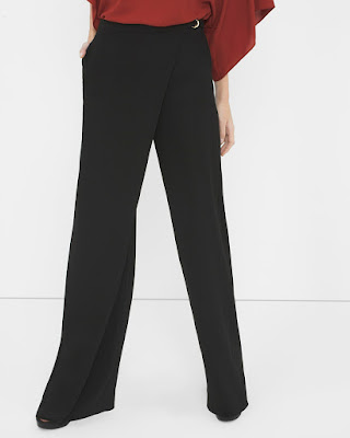 Wrap Front Wide Leg Pants $15 (reg $98)