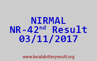 NIRMAL Lottery NR 42 Results 3-11-2017