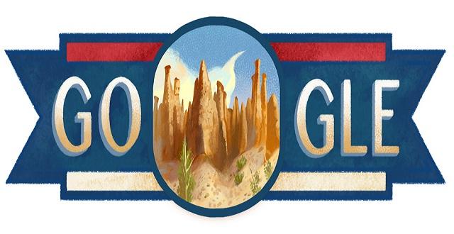Logo Google Doodle Peringati Hari Nasional Serbia