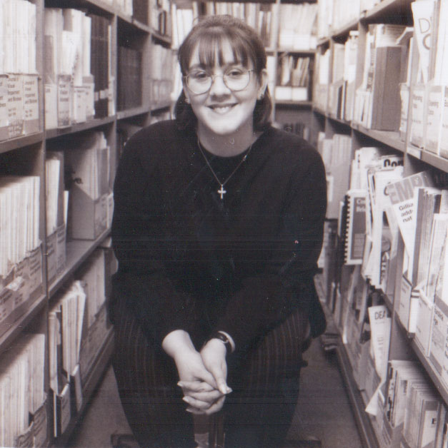 Me in the RNIB Reference Library in 1996