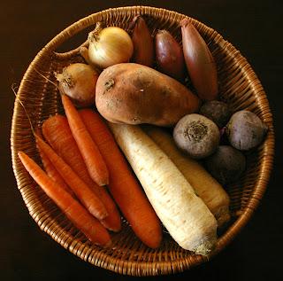 warzywa korzeniowe, warzywa zimowe, kosz warzyw