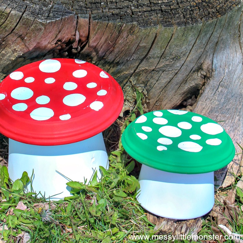 Flower Pot Toadstool - A Magical Clay Pot Craft for kids