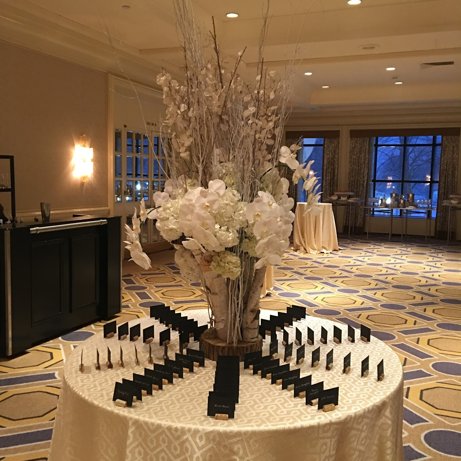 bespoke boston weddings; escort card table