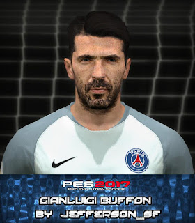 PES 2017 Faces Gianluigi Buffon by Jefferson_SF