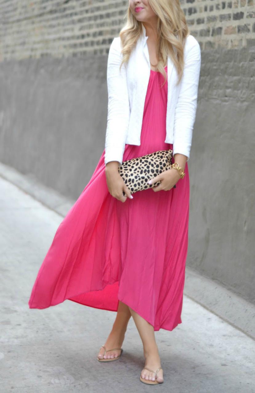 shopbop one pink stitch resort maxi dress