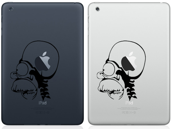 Homer Apple Brain iPad Mini Decals