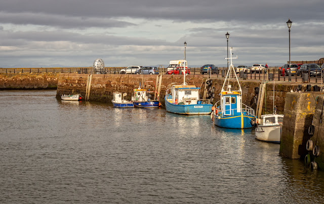 Photo of fishing boats at Maryport Harbour on Wednesday