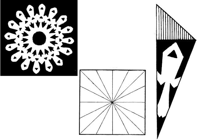 Вырезаем снежинки: схемы
