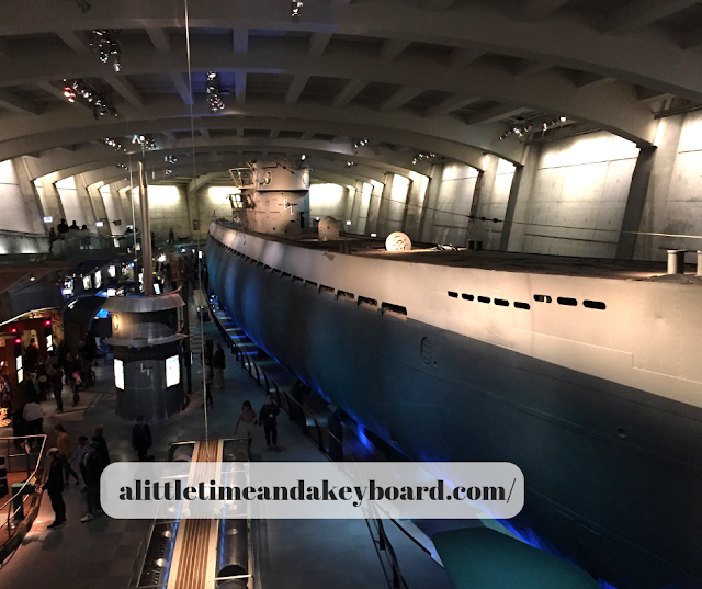 U-505 the German submarine at the Museum of Science and Industry is the length of a city block.
