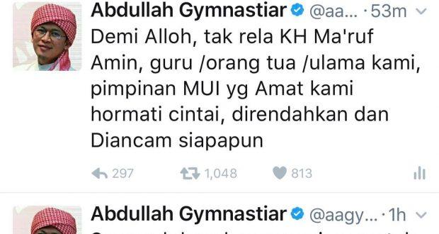 [Pada Tahun 2017] Aa Gym: Demi Allah Kami tak Rela KH Ma'ruf Amin Direndahkan