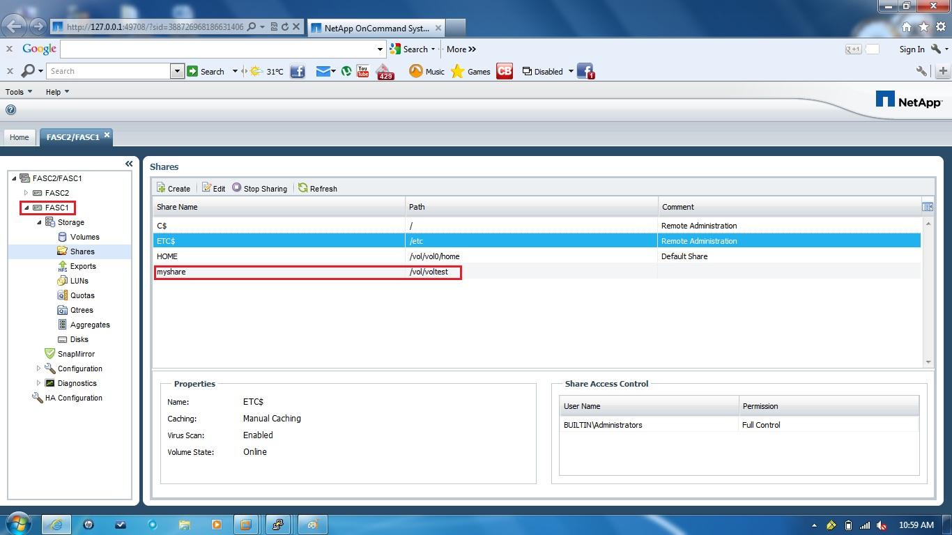 remote infrastructure management managing netapp cluster  netapp oncommand system manager