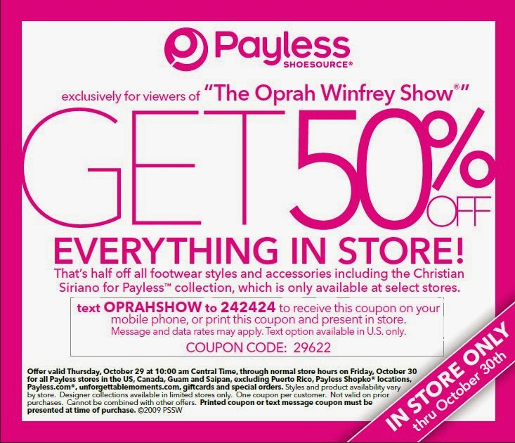 Payless Store Shoes Coupons
