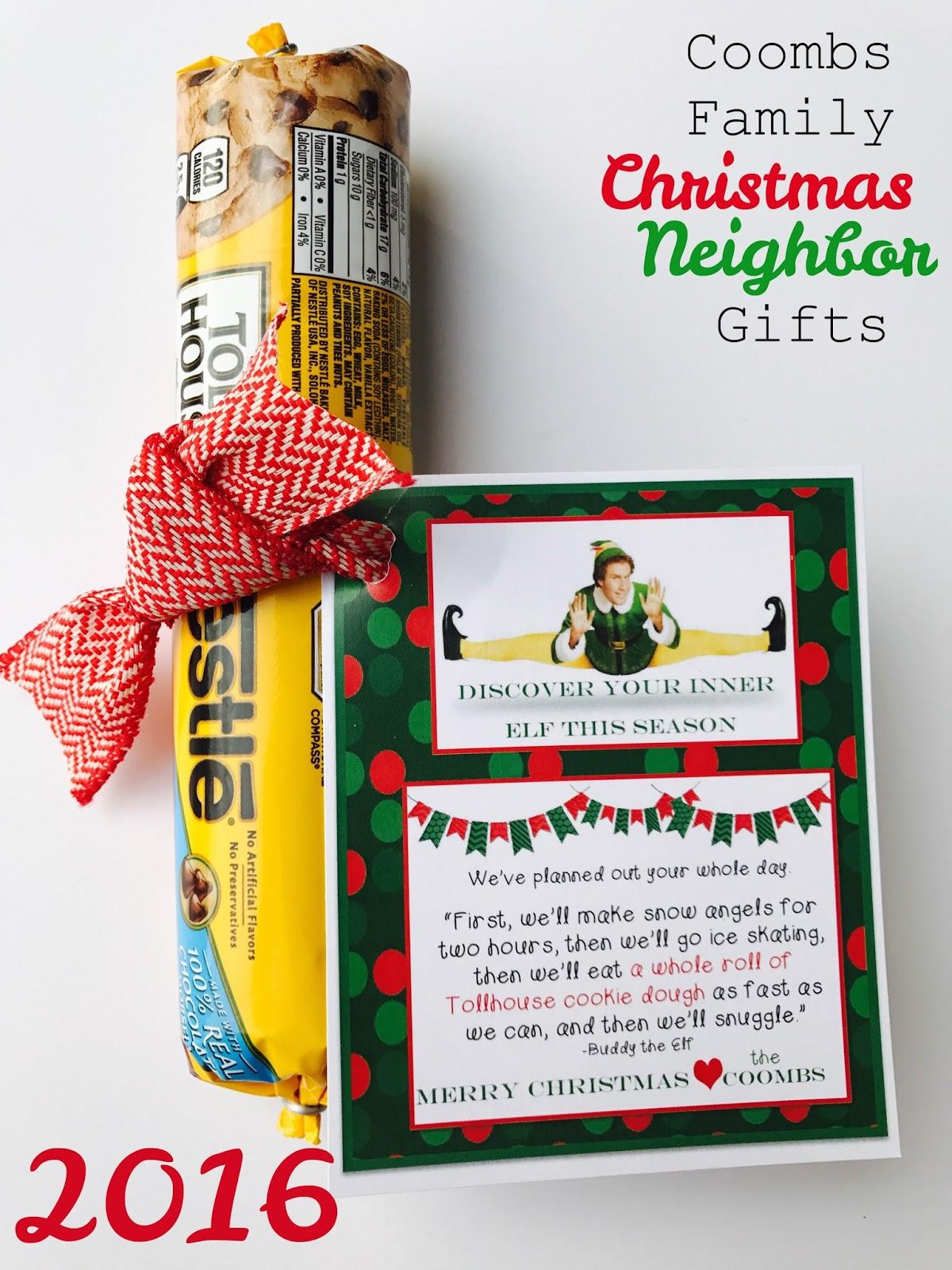 coombs family christmas neighbor gifts 2016