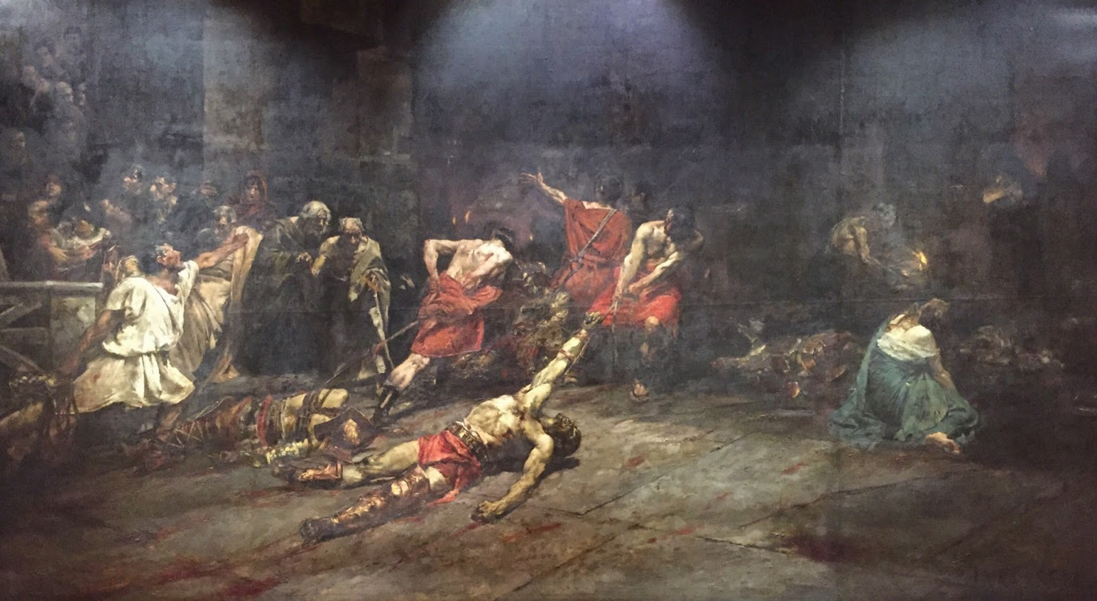 spolarium painting of juan luna means Juan luna, one of our national in the spolarium, he is able to unite his painting into expresing his message by correlating every element with one another in the.