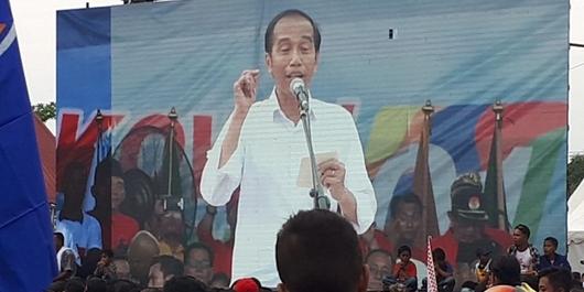 Kampanye di Dumai, Jokowi Ajak Pendukungnya Lawan Fitnah