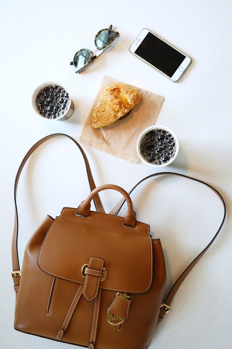 fddb8113ca14 ... Medium Backpack MICHAEL Michael Kors Romy Leather Backpack A quick  review ...
