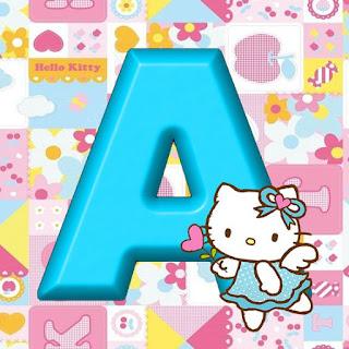 Abecedario Celeste con Hello Kitty Hada.