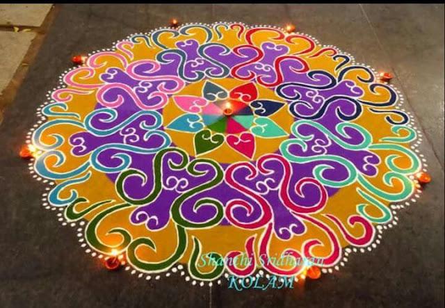 Simple and Small Rangoli Designs