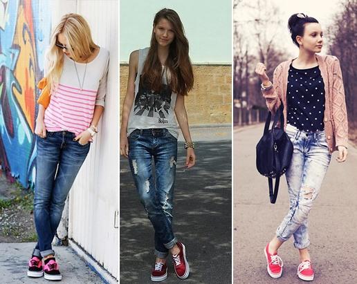 Resultado de imagem para jeans com tenis vans