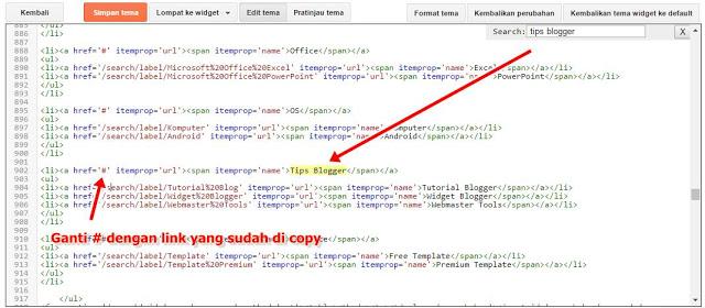 Cara Mengisi Menu Navigasi Dengan URL Postingan Blog