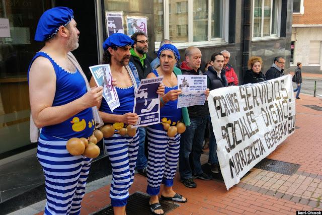 Protesta contra los cortes de agua