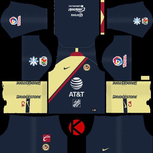 6354a7f71b4 Club America 2018/19 Kit - Dream League Soccer Kits - Kuchalana
