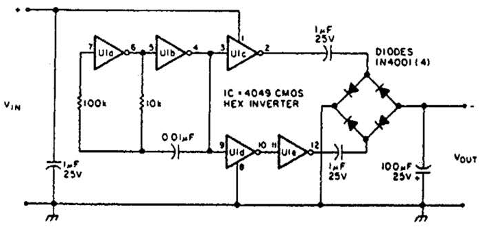 inverting power supply circuit diagram