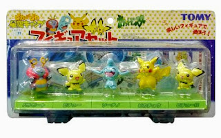 Pokemon figure Tomy Monster Collection 2002 Movie set
