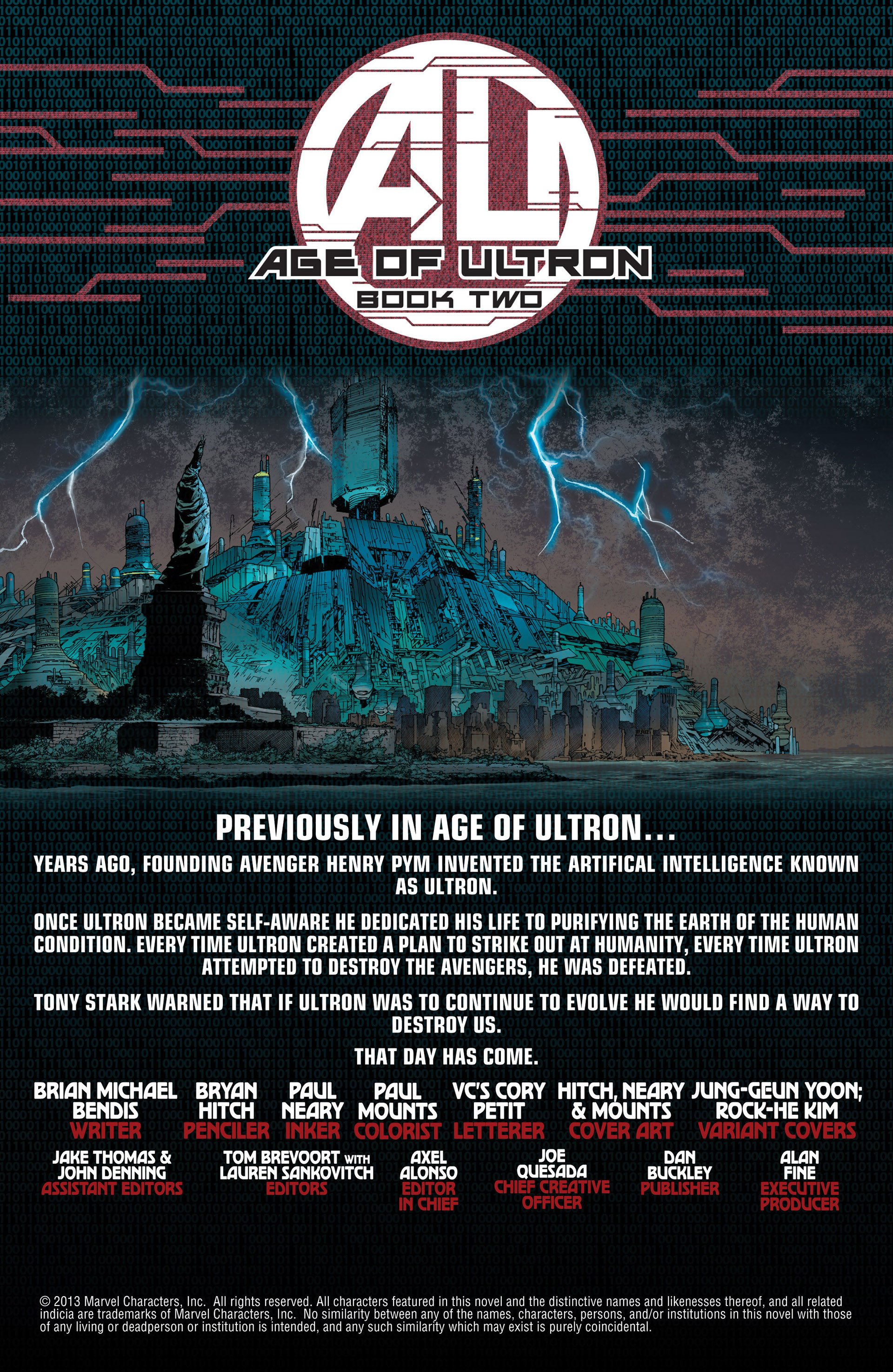 Read online Age of Ultron comic -  Issue #2 - 2