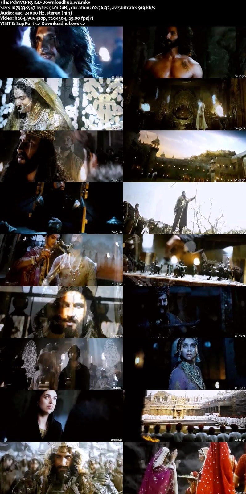 Padmaavat 2018 Hindi 1GB Pre-DVDRip x264
