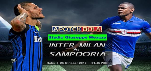 Inter Milan vs Sampdoria 25 Oktober 2017