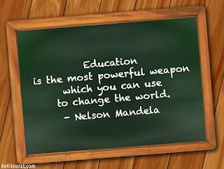quotes bahasa inggris about education dan artinya