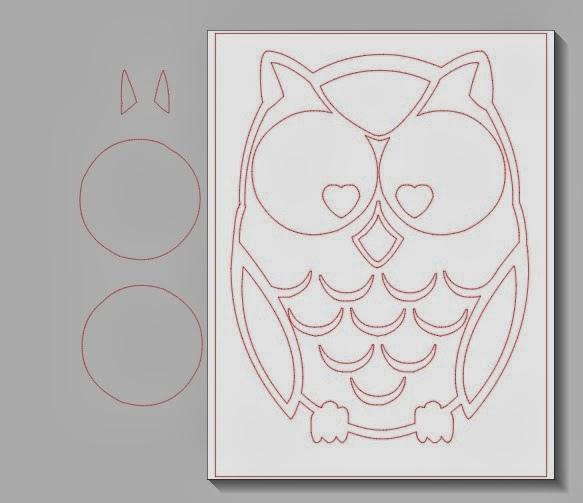 Owl, painted, pillow cover, DIY, do it yourself, Silhouette Studio, Silhouette tutorial, ungroup