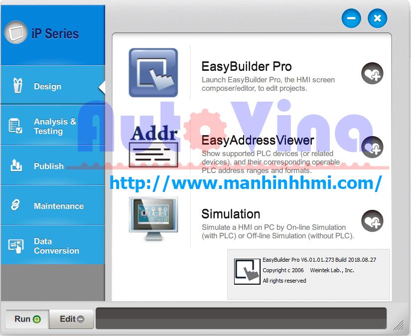 Cung cấp phần mềm miễn phí, link tải phần mềm EasyBuilder Pro V6.01.01.273