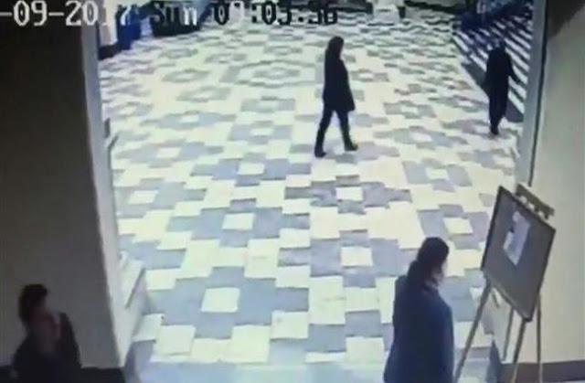 أول فيديو للإنتحاري من داخل كنيسة مارجرجس بطنطا قبل التفجير