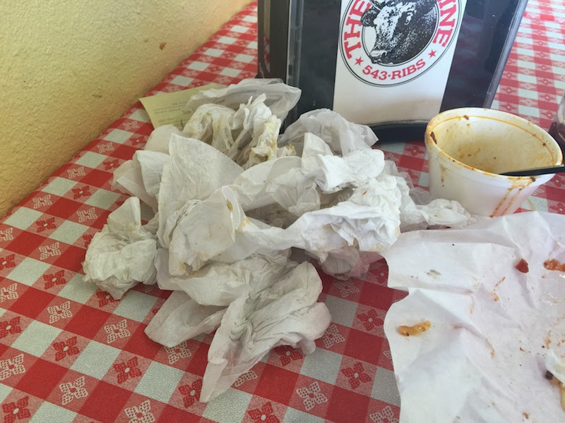 It takes a lot of napkins to finish the King's Dream at The Rib Line