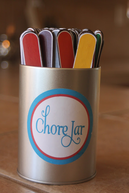 Cute Popsicle Stick Chore Jar for Kids