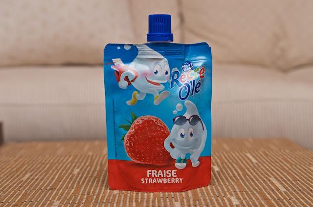 Récré O'lé Fraise - Mont Blanc - Crème dessert - Fraise - Strawberry - dessert - cream - goûter - France - breakfast