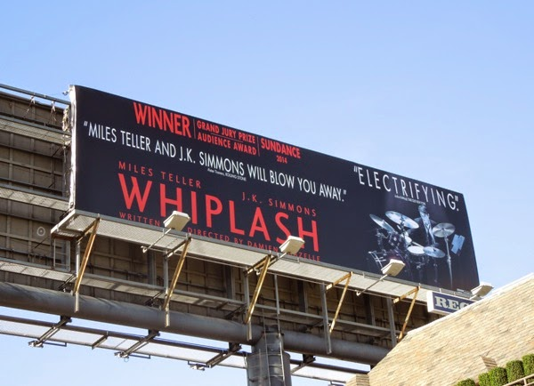 Whiplash movie billboard Nov 2014
