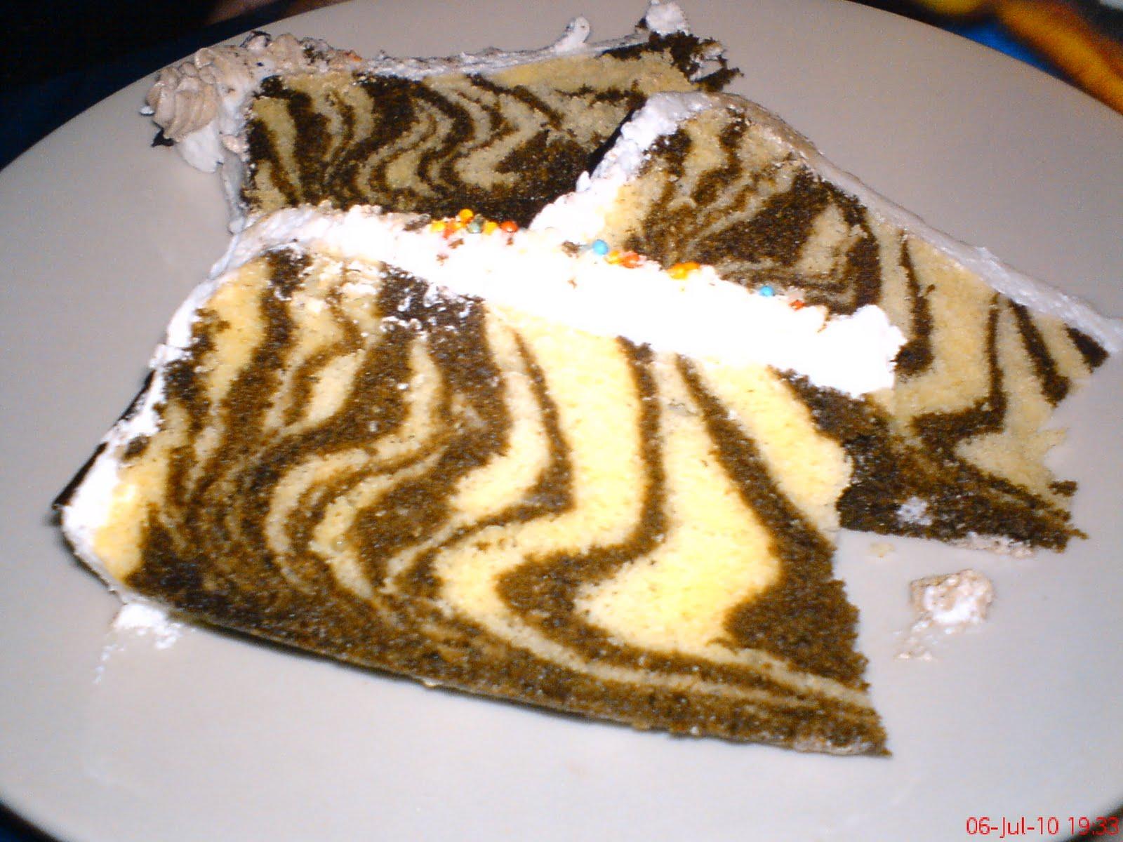 Resep Zebra Cake Kukus Ncc Enak Dan Lezat Resep Rainbow Cake Enak